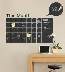 Chalkboard Wall Calendar With Memo Vinyl Wall Decal Etsy