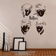 Amazon Com The Beatles Wall Decals Legends Of Music Stickers Decorative Design Ideas For Your Home Or Office Walls Removable Vinyl Murals Ec 1106 Arts Crafts Sewing
