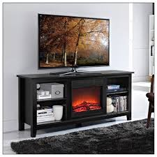 tv console with electric fireplace for