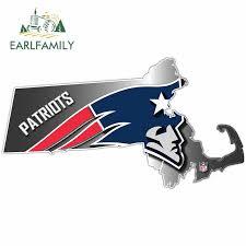 Earlfamily 13cm X 7 1cm For New England Patriots Football Creative Sticker Car Accessories Vinyl Car Stickers Custom Printing On Aliexpress