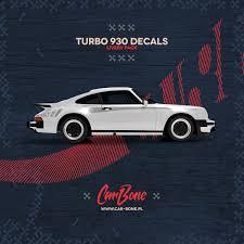 Script Body Decals Livery Pack For Porsche 930 Turbo Car Bone Pl