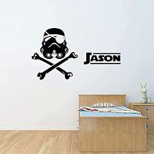 Amazon Com Star Wars Wall Stickers Personalized Stormtrooper Wall Stickers Customised Wall Decal For Children S Room Decor Handmade