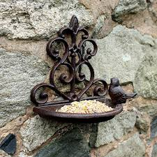 Cast Iron Wall Mounted Bird Bath And Feeder Free Uk Delivery