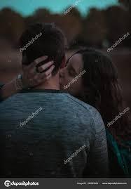 nice afternoon hugging kissing each