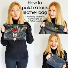 how to patch a faux leather bag