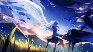 angel angel beats anime рисунок