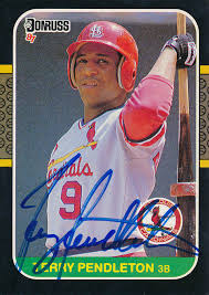 Terry Pendleton - Trading/Sports Card Signed | HistoryForSale Item 327820