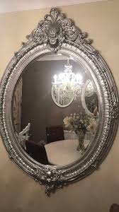 sparkling silver french style mirror