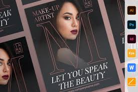 makeup artist poster 616252 flyers
