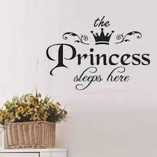 Wall Sticker Waterproof The Princess Sleeps Here Wall Paper For Girls Bedroom 45 X 32 5cm Free Shipping Dealextreme