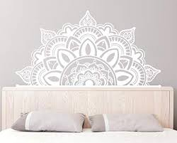 Amazon Com Amazing Home Decor Half Mandala Wall Decals Boho Wall Decor Headboard Sticker Bohemian Decor Boho Decal Home Decor Mandala Wall Decaler882 Kitchen Dining