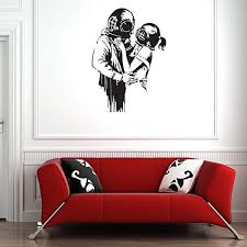 Amazon Com Style Apply Deep Love Banksy Wall Decal Wall Sticker Vinyl Wall Art Wall Applique Home Decor Mural B1014 39in X 54in Dark Green Home Kitchen