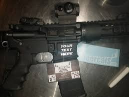 Ar 15 Magwell Decal Create Your Own 1 5 X 1 5 Etsy