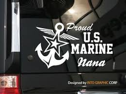 Proud Nana U S Marine Vinyl Car Decal Sticker 7 W With Star Anchor Ebay