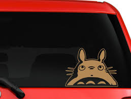 Totoro Decal Totoro Head Vinyl Sticker My Neighbor Totoro Etsy In 2020 Vinyl Sticker My Neighbor Totoro Vinyl