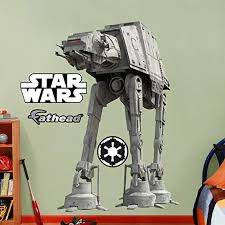 Amazon Com Fathead At At Huge Officially Licensed Star Wars Removable Wall Decal Home Kitchen