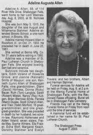 Adeline Allen Obituary - Newspapers.com