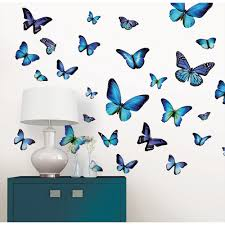 Wall Pops 34 5 In X 39 In Mariposa Butterfly Wall Decal Wpk1725 The Home Depot