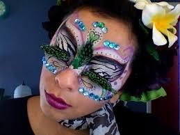 electric zoo zebra bird makeup