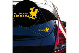 My Other Ride Is A Chocobo Final Fantasy Inspired Decal Sticker For Car Window Laptop And More 1246 Custom Custom Wish