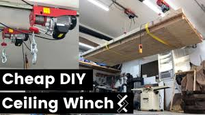 diy ceiling winch overhead hoist