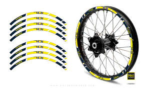 Rim Stripes Power Husqvarna Yellow Motoproworks Decals And Bike Graphic Kit