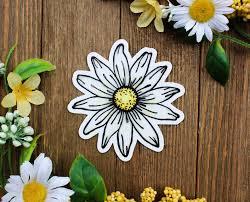 Daisy Sticker Daisy Decal Daisy Car Sticker Daisy Car Etsy