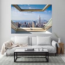 New York Skyline Vinyl Wall Decal City Jets Street Design Yankees Islanders Vamosrayos