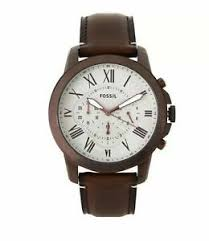 44mm grant chronograph brown leather