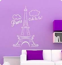 Amazon Com 34 White Paris Eiffel Tower Ooh La La Wall Decal Decor France Love Hearts Sticker Kitchen Dining