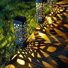 solar powered vintage garden lamp