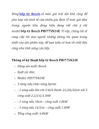 Bếp từ Bosch PID775N24E by thuyduong5695 - issuu
