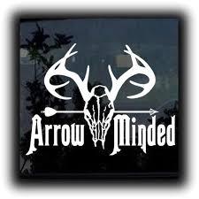 Bow Arrow Minded Hunting Window Decal Sticker Custom Sticker Shop