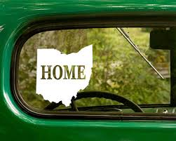 Ohio Home State Pride Vinyl Sticker Decal Approximate Size 5 5x 6 8x9 11x12 5 Please Read This Vinyl Decal Sticker Is Made Wi Car Decals Car Stickers Car