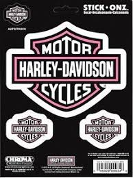 Harley Davidson White Pink Decal Set Car Truck Window Sticker Harley Davidson Logo Harley Davidson Reflective Decals