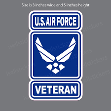 Air Force Veteran Wings Logo Military Bumper Sticker Window Decal