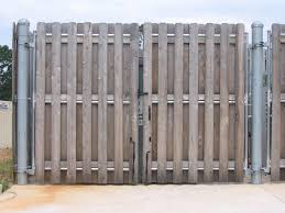 Dumpster Gates Fortified Fence