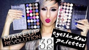 makeup revolution 32 shade palettes