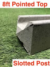 G G 8ft Premium Concrete Slotted Post Pointed Top 01322 787312