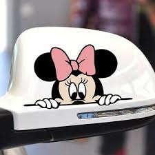 Funny Mickey Mouse Car Sticker Cute Scratch Cover Decal Mirror Cartoon Sticker 7 36 Picclick