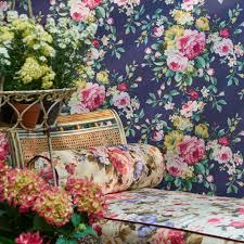 emeline indigo wallpaper colony