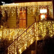 LemonBest Giáng Sinh Ngoài Trời Trang Trí Trong Nhà Cụp Shipping 0.3 0.5 m  Rèm Icicle Led Dây Đèn Năm Mới Garden Party 110 220 V|droop 0.3-0.5m|string  lightsicicle led - AliExpress