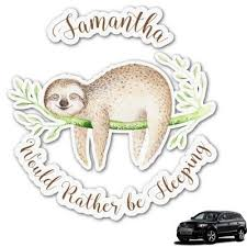 Sloth Graphic Car Decal Personalized Sloth Personalized Car Accessories Monogram Decal
