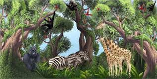 Jungle Animals Wall Decals Murals