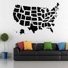 Usa Map Wall Sticker Map Of America Wall Decal 3d Modern American Map Wallpaper Decorating Modern Decor Wish