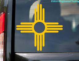 New Mexico Flag Sun Vinyl Sticker Zia Nm Home State Die Cut Decal