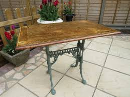 small neat garden or conservatory table
