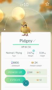 Evolve 2 pidgey pokemon go