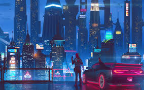 cyberpunk city wallpaper 4k