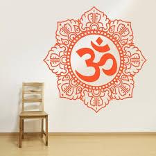 Large Huge 48 Size Wall Decal Vinyl Sticker Decals Hindu Om Symbol Buddha Indian Word Z1365b Amazon Best B Vinyl Wall Decals Wall Decals Sticker Wall Art